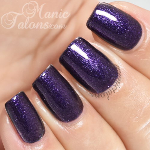 Madam Glam Glittery Purple Swatch