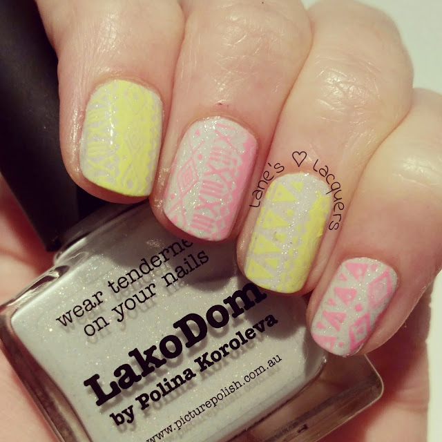 picture-polish-lakodom-neon-tribal-print-nail-art (2)