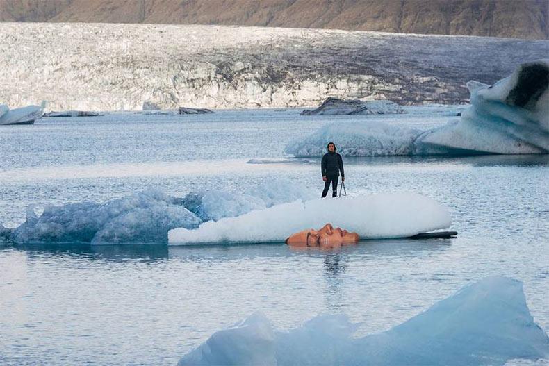 Nuevo mural sobre un Iceberg de Hula