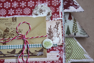 Декабрьский дневник (december daily), фотоальбом ручной работы. Материалы из магазина Скрапбукшоп. Использованы скрап-бумага, штампы, скрап-фишки, чипборд, кружево, стразы, высечки, брадсы, металлические подвески, цветы для скрапбукинга, глосси-акцент, акриловая краска, фигурные компостеры (дыроколы).