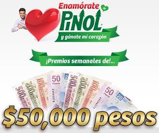 concurso promocion mexico 2013 pinol cena con jaime camil viaje 50,000 cincuenta mil pesos