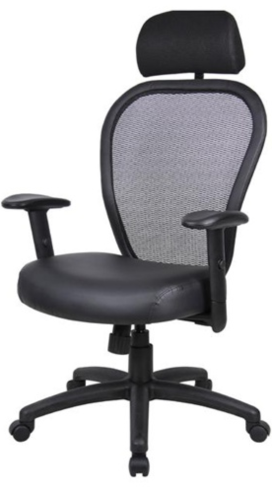 Boss Leather Mesh back Task Chair