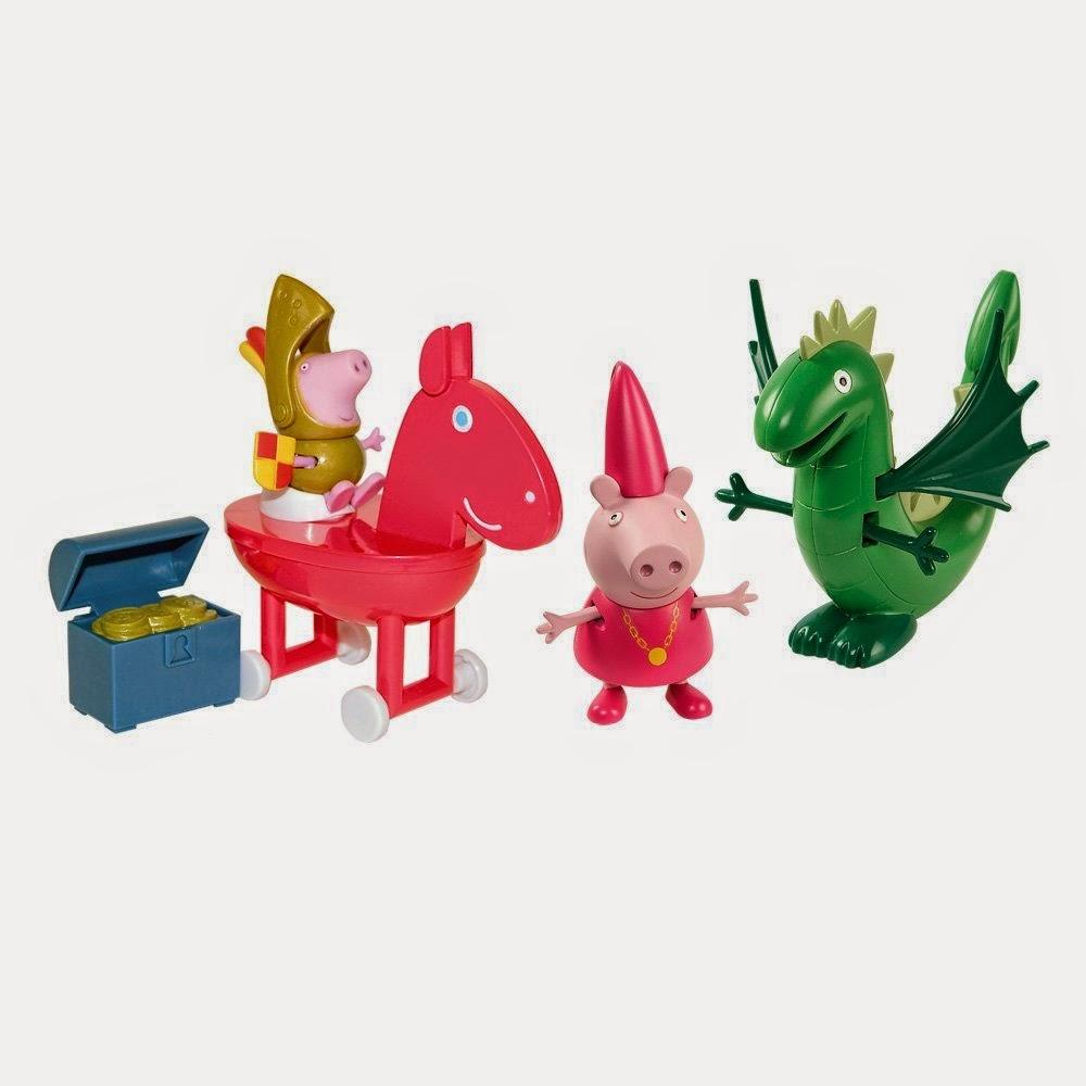 JUGUETES - PEPPA PIG   Aventuras de Sir George y el dragón  Producto Oficial | Bandai 84332 | A partir de 3 años