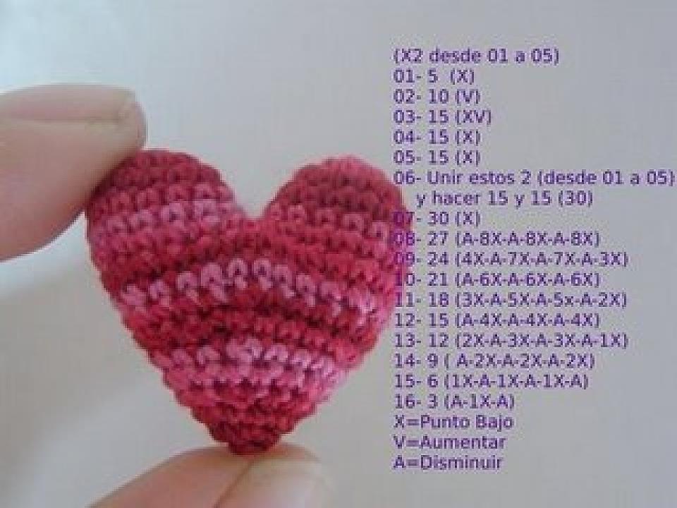 Amigurumi Anahtarlık Tarifi : Rengarenk hobİler: amigurumi kalp yapılışı Şemalı anlatım