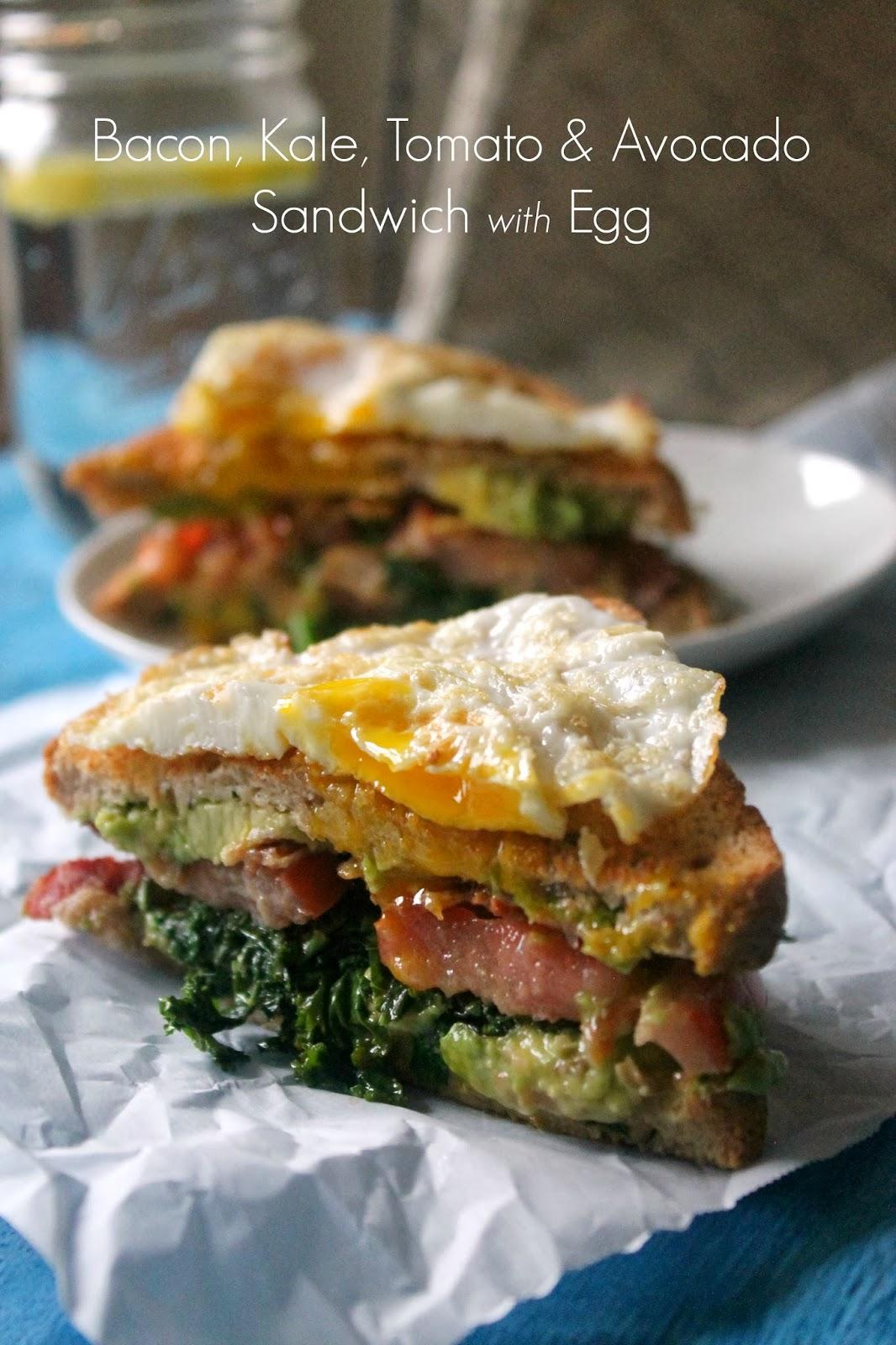 "The Kitchen Prep: The ""BKTA Sandwich"" {Bacon, Kale, Tomato & Av..."