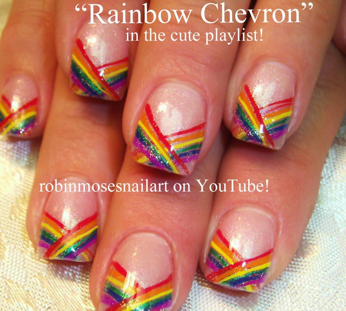 Nail Art Design: rainbow nails, pride nails, rainbow stripe nails ...