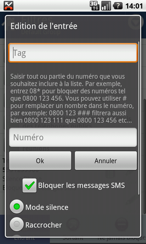 Call and SMS blocking Application