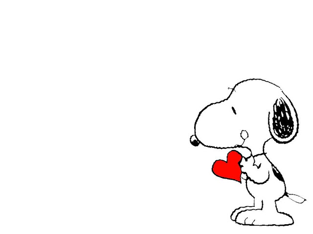 Wallpaper Snoopy con corazon