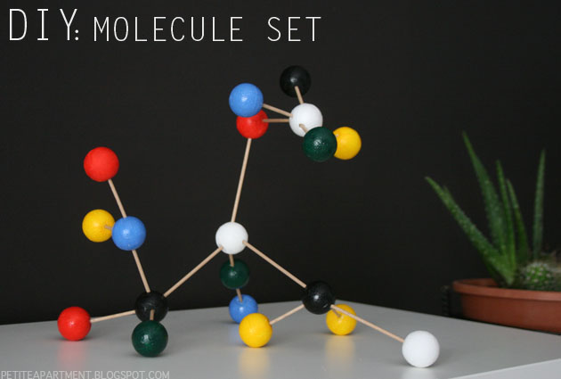 diy molecule set home decor mid century modern inspiration ferm living