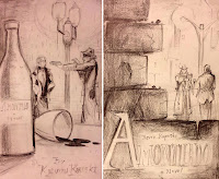 Amontillado Preliminary Cover Sketches - Koperski, Gloor
