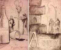 Amontillado Preliminary Cover Sketches - Koperski, Gloor