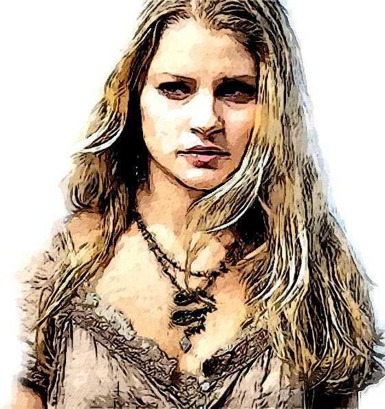Emilie de Ravin watercolor