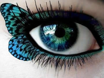 Cute Blue Butterfly Eye Makeup