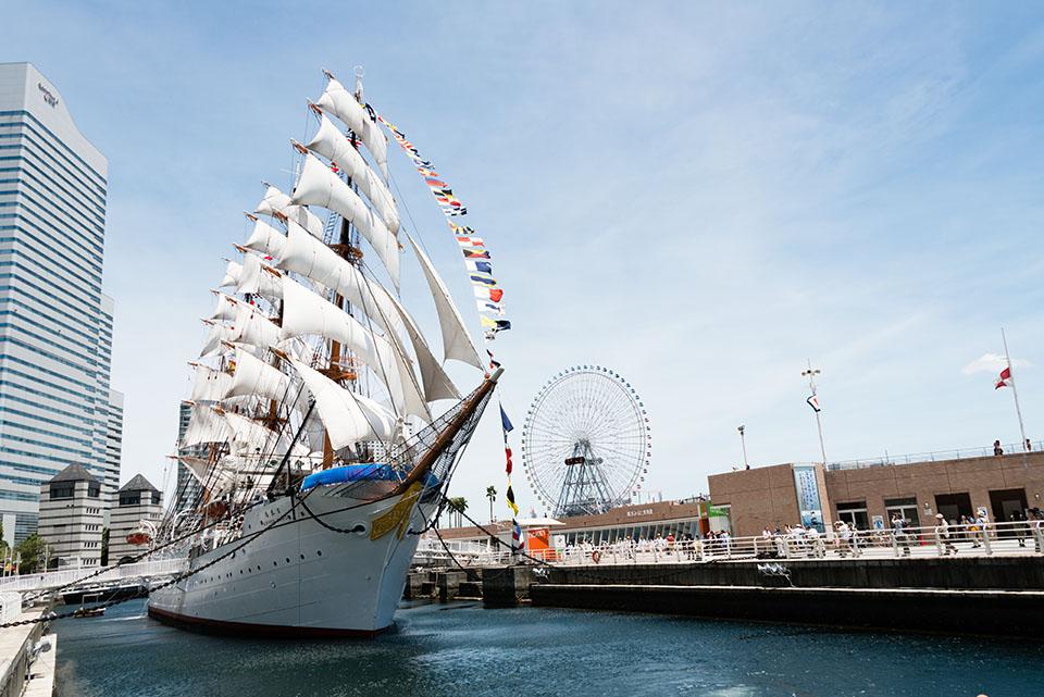 Full Sailed Nippon Maru, Yokohama