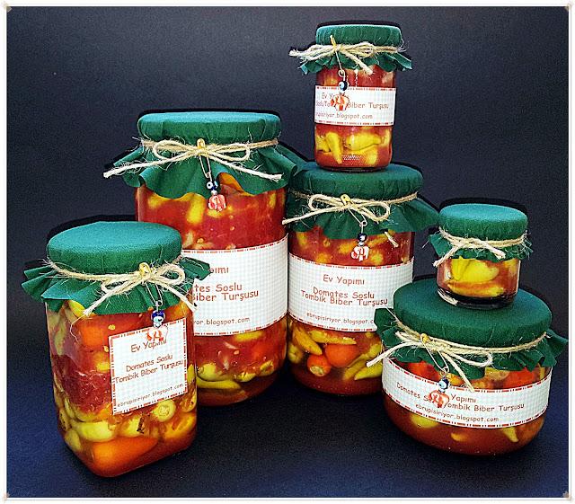 domates soslu tombik biber turşusu