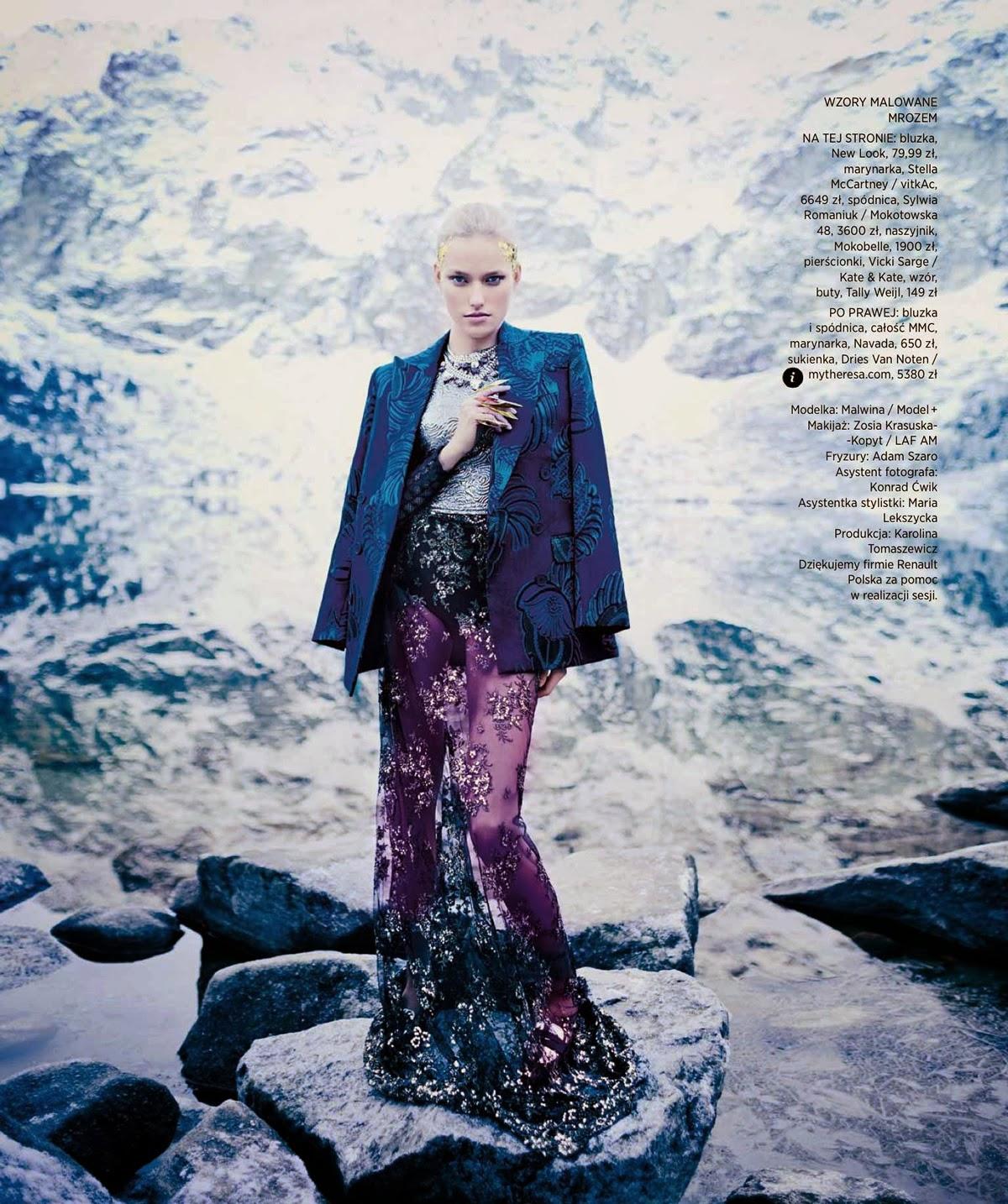 Magazine Photoshoot : Malwina Garstka Photoshot by Artur Wesolowski for Harper's Bazaar Magazine Poland 2014