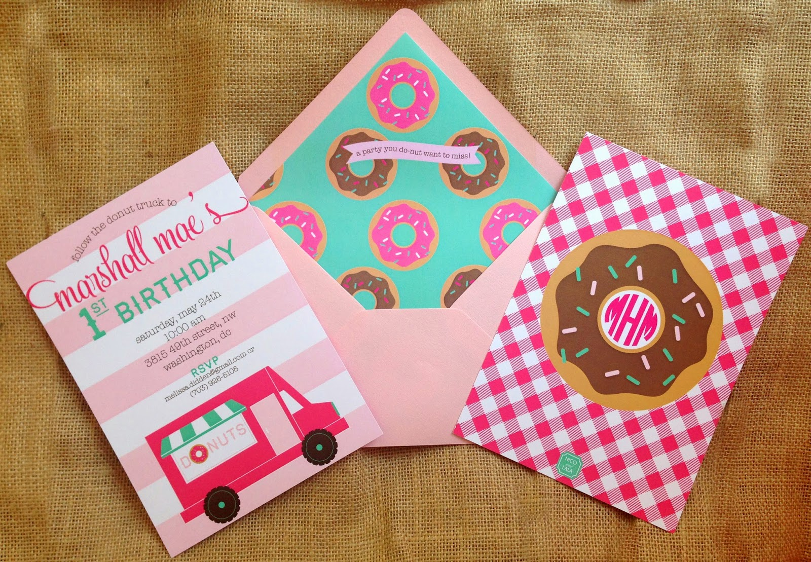 Pink and Green Donut Birthday Party