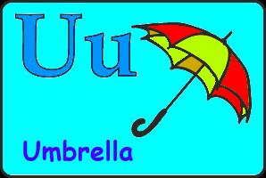 Карточка английской буквы U