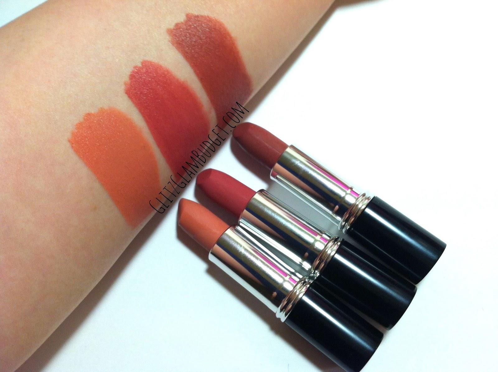 Laura Geller Creme Couture Soft Touch Matte Lipsticks Swatches