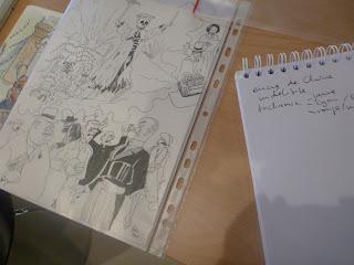 Golos Entwürfe (Minimaler Ausschnitt), die Recherchen sind klar erkennbar