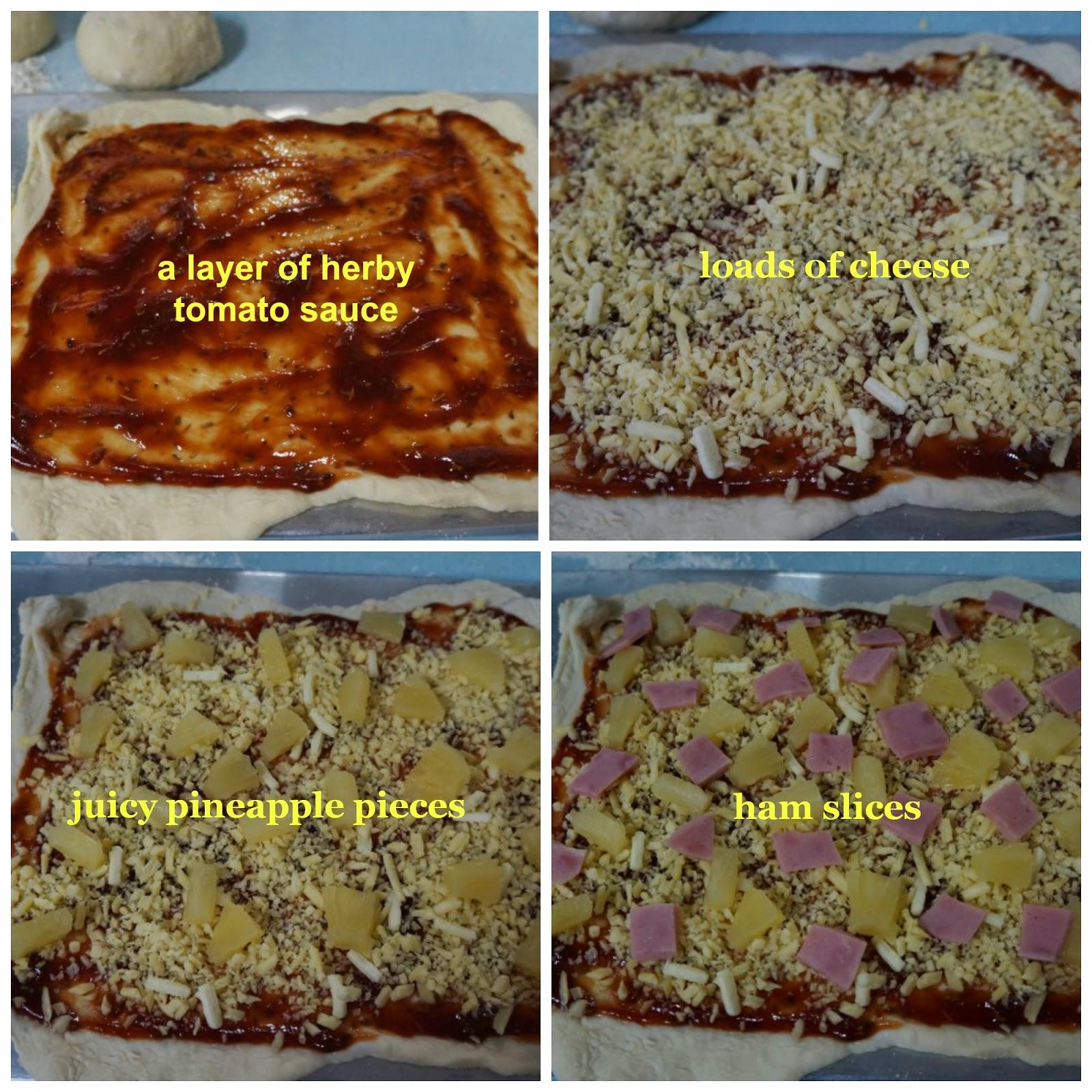 Jim Lahey's No Knead Pizza Dough-Hawaiian Pizza