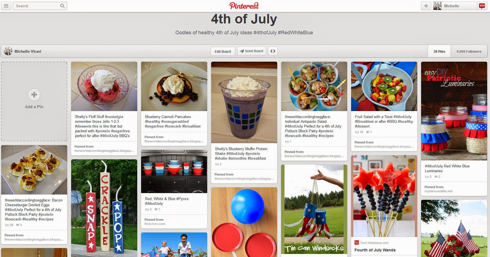 4th+of+July+Pinterest Weight Loss Recipes Eggface Healthy 4th of July Pinterest Page