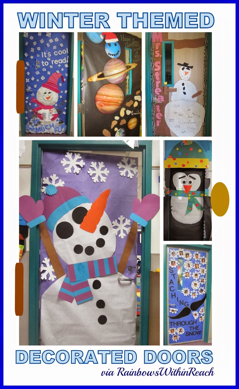 Winter Themed Decorated Doors