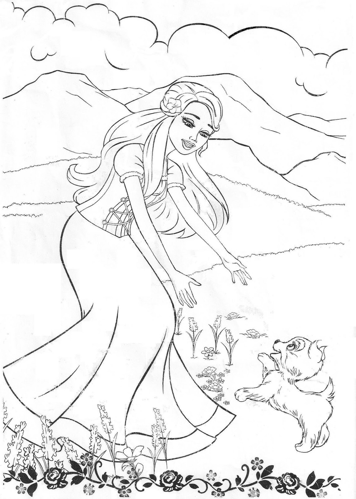 Colorir Imagens Imagens Da Barbie Para Colorir And The 12 Princesses Coloring Pages