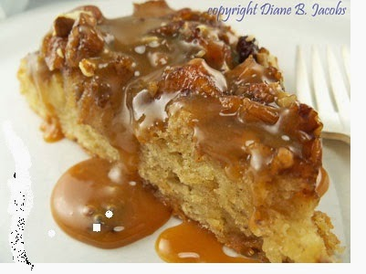 Bed & Breakfast Caramel Apple Skillet Cake...yummo!