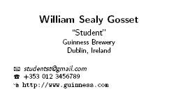 Clints ramblings student business card with latex crisp and clean card containing my name university email address phone number and blog address below is a fictional business card for the man colourmoves