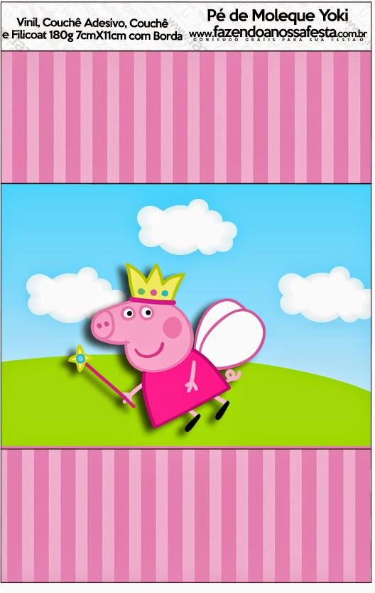 Peppa Pig Hada: Etiquetas para Candy Bar para Imprimir ...