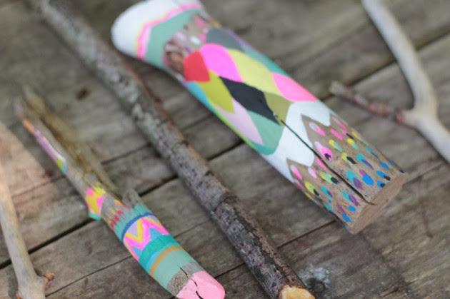 DIY bois peint coloré