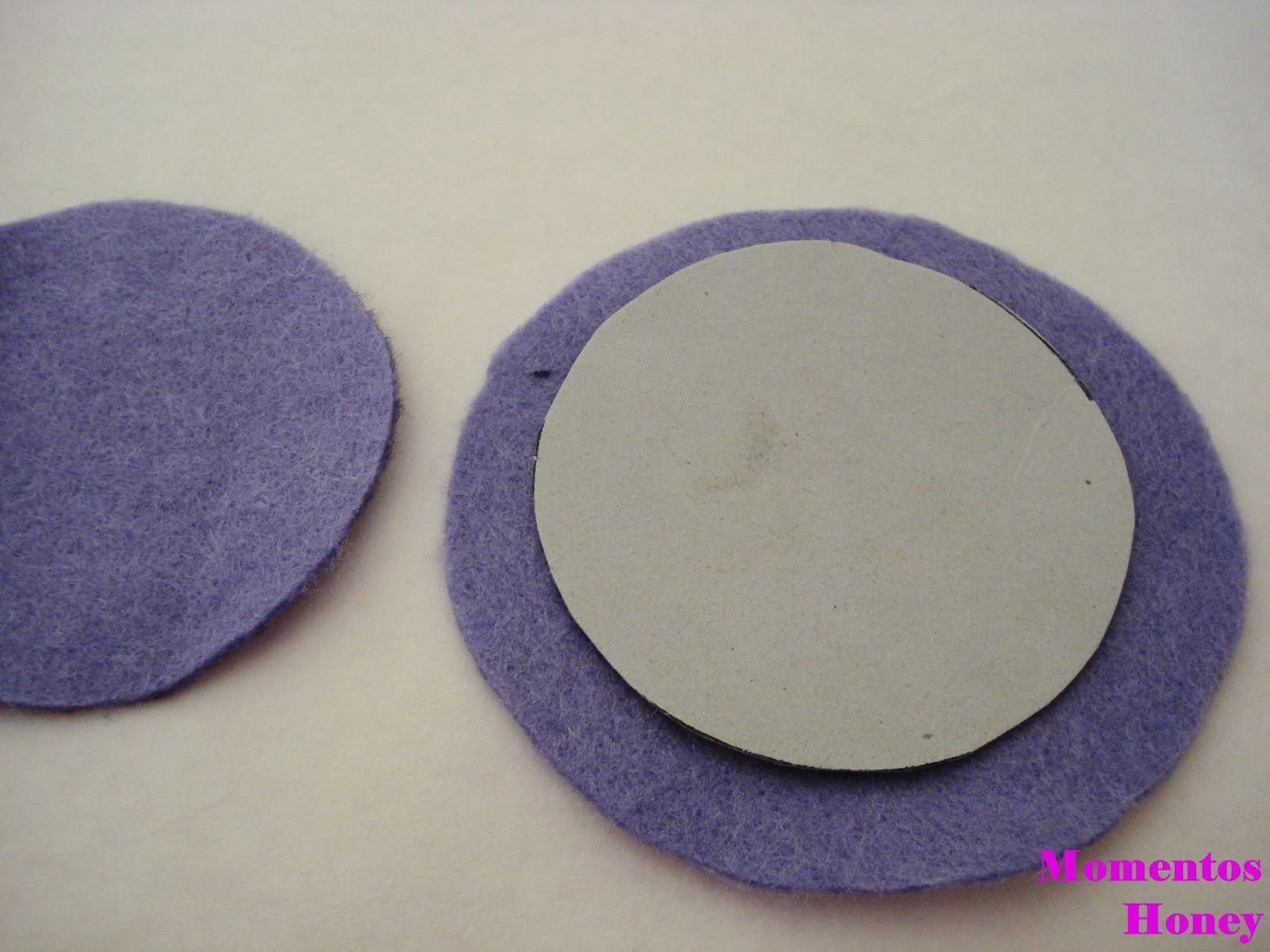 Momentos Honey: Dalia violeta realizada en fieltro