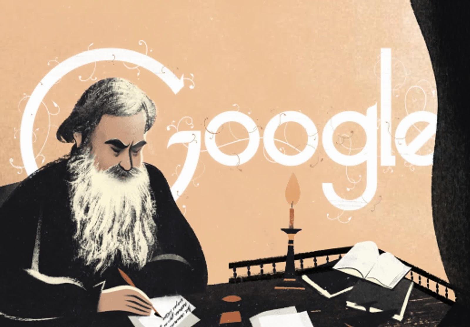 Google doodle Leo Tolstoy