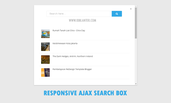 Responsive Ajax Search Box Blogger