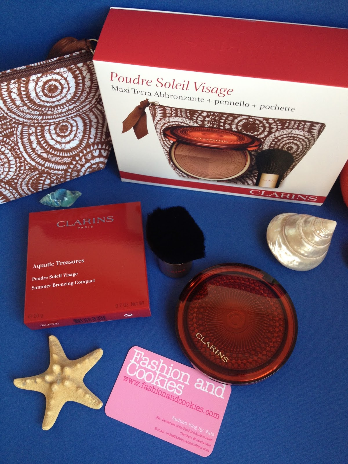 Clarins Aquatic Treasures Poudre Soleil Visage on Fashion and Cookies fashion and beauty blog, clarins aquatic treasures bronzer review