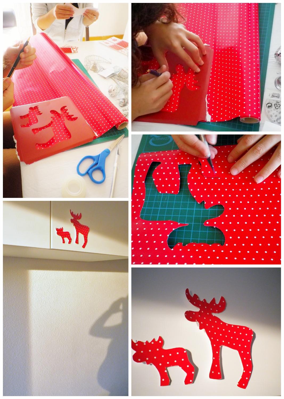 Mi casa en navidad los renos silueteados de papel de - Como decorar mi casa para navidad ...