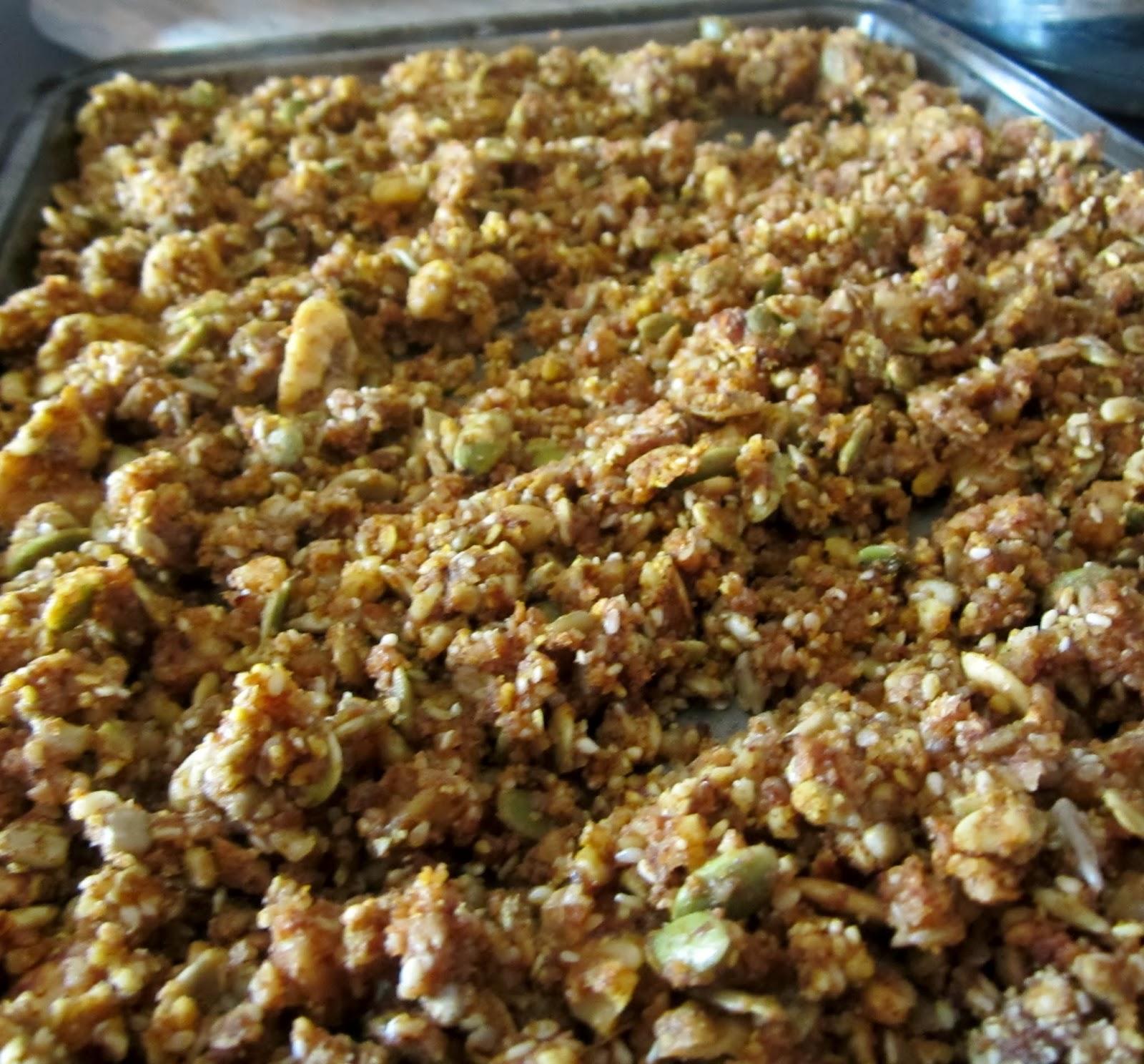 Grain Free Pumpkin Pie Granola {Trim Healthy Mama, Gluten Free, Grain ...