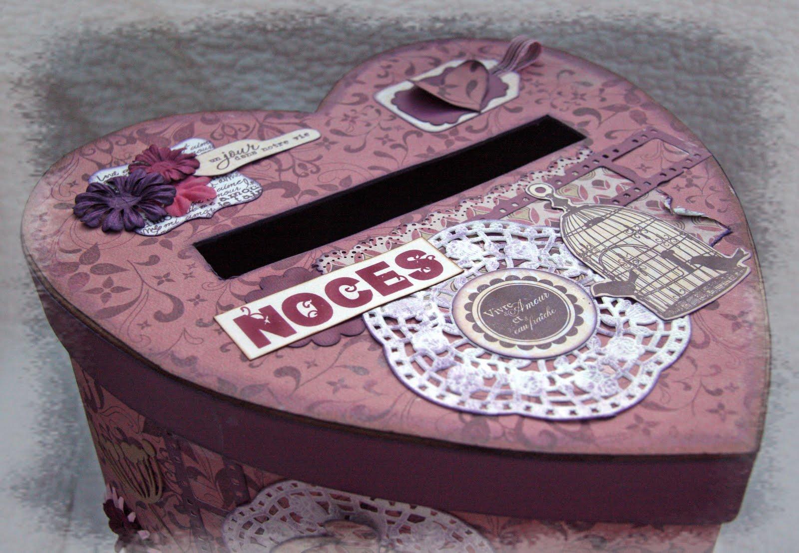 scrap plaisir le scrap de shannon91 urne personnalis e pour un mariage boite. Black Bedroom Furniture Sets. Home Design Ideas