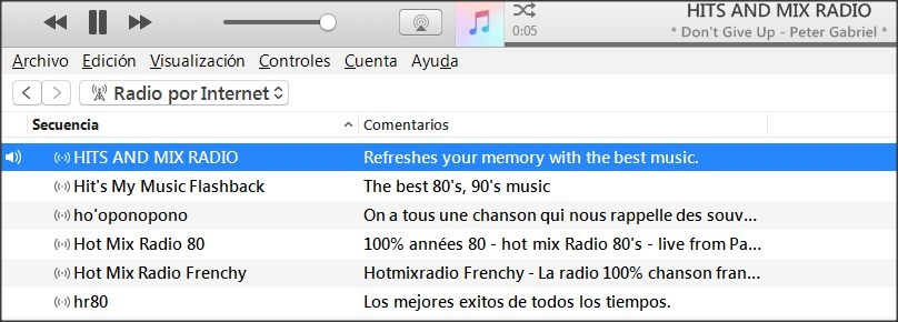 HITS AND MIX RADIO stream 1 se escucha en iTunes para PC y Mac.