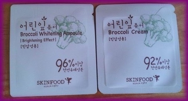 broccoli whitening ampoule cream skinfood
