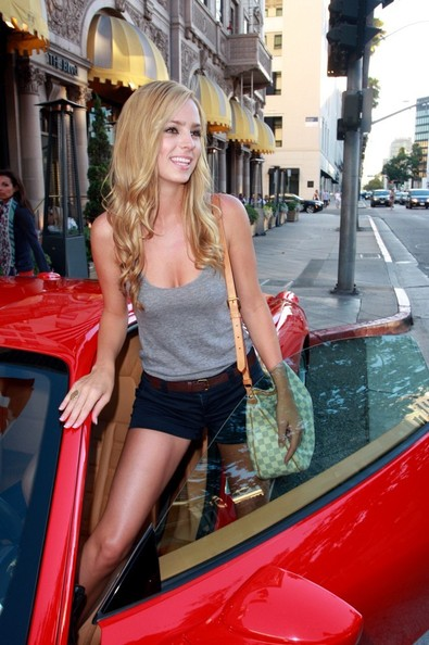 Liz Leyda and her Ferrari