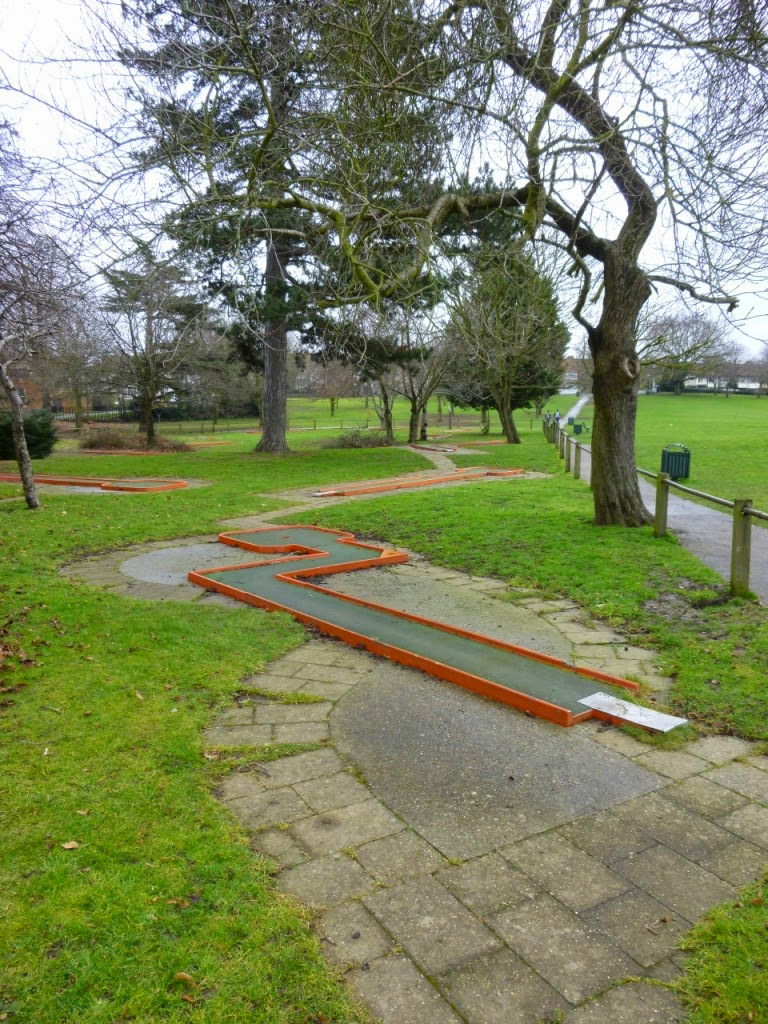 Miniature Golf course at Woodlands Park in Gravesend, Kent