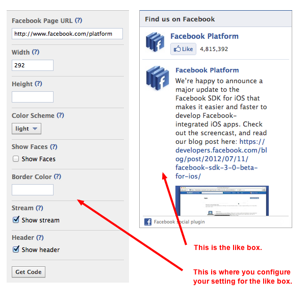 Facebook Like Box Social Plugin
