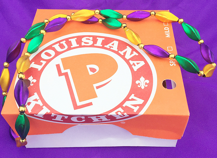 popeyes chicken on mardi gras