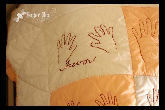 Handprint quilt sugar bee crafts