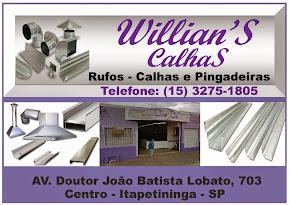 Willian's Calhas, Rufos e Pingadeiras