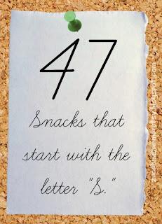 preschool snacks, preschool S snacks, eating the alphabet