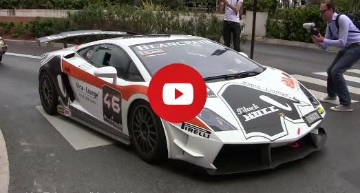 Lamborghini Super Trofeo voiture de course à Monaco