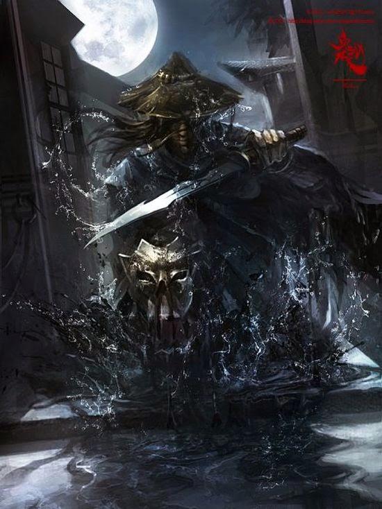 guicaimumu artista chinês ilustrações fantasia card games Assassino noturno